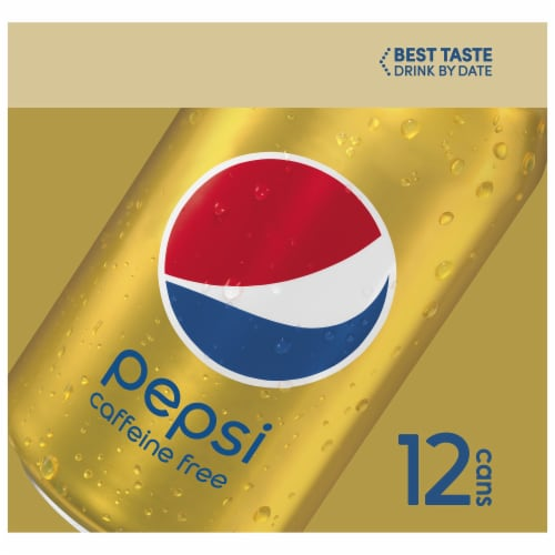 Pepsi Cola Caffeine Free Soda 12 Pack Perspective: left