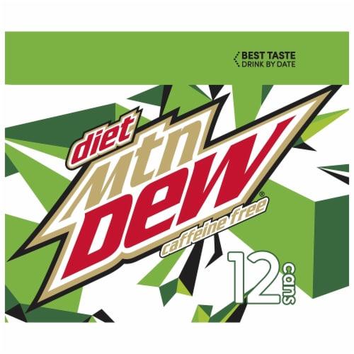 Diet Mountain Dew Caffeine Free Soda 12 Pack Perspective: left
