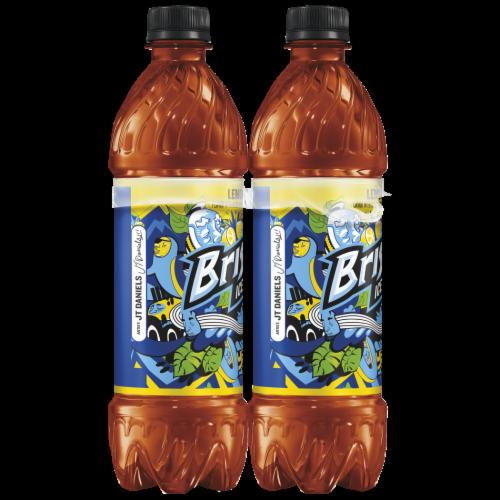 Lipton Brisk Lemon Iced Tea Bottles Perspective: left