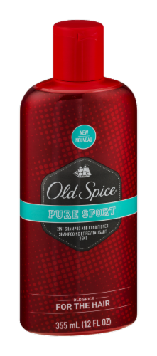Old Spice Pure Sport 2-In-1 Shampoo & Conditioner Perspective: left