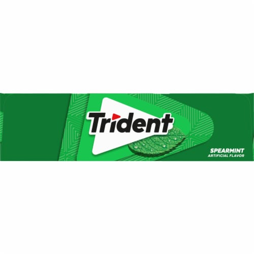 Trident Spearmint Sugar Free Gum 168 Count Perspective: left