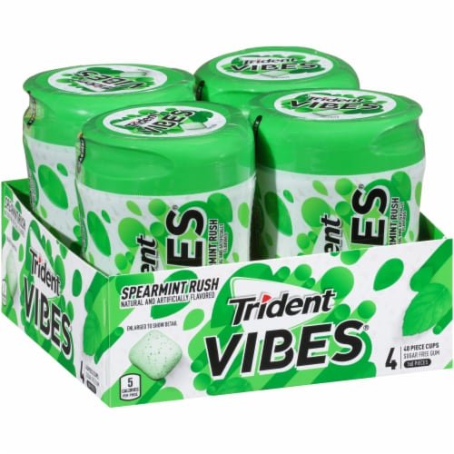 Trident Vibes Spearmint Rush Gum Perspective: left