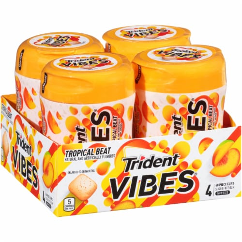 Trident Vibes Tropical Beat Gum Perspective: left