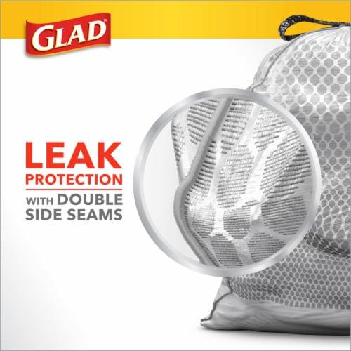 Glad® Guaranteed Strong™ Tall 13 Gallon Kitchen Drawstring Trash Bags Perspective: left