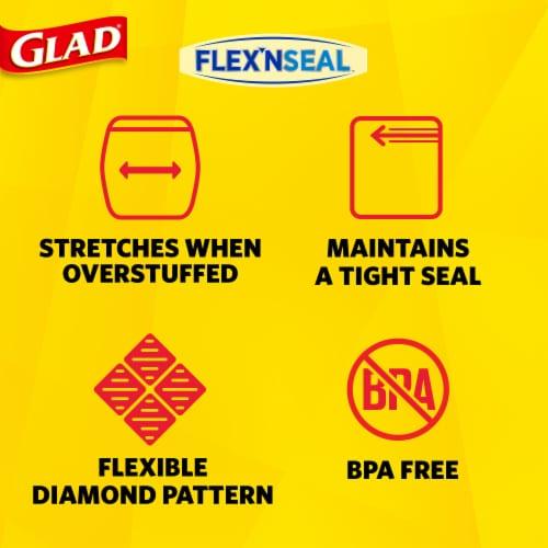 Glad Flex 'N Seal Quart Storage Zipper Bags Perspective: left