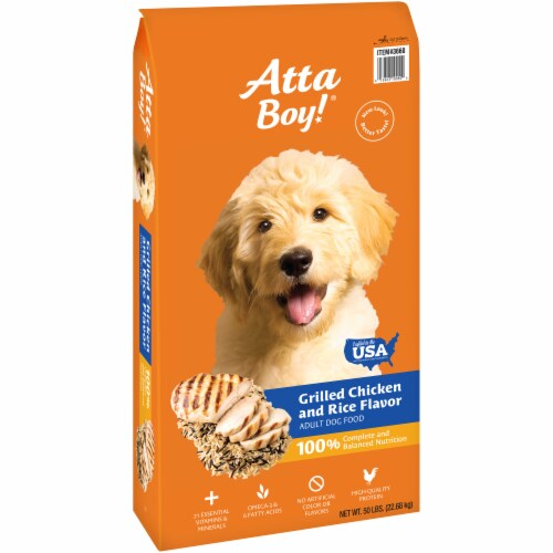 Atta Boy! Grilled Chicken & Rice Flavor Adult Dry Dog Food Perspective: left
