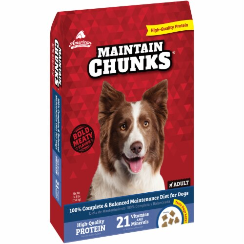 Maintain Chunks High Protein Adult Dry Dog Food Perspective: left