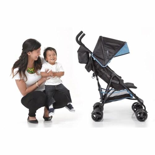 Summer Infant 3Dmini Convenience Lightweight Foldable Travel Baby Stroller, Blue Perspective: left