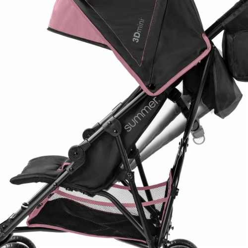 Summer Infant 3Dmini Lightweight Folding Convenience Toddler Baby Stroller, Pink Perspective: left