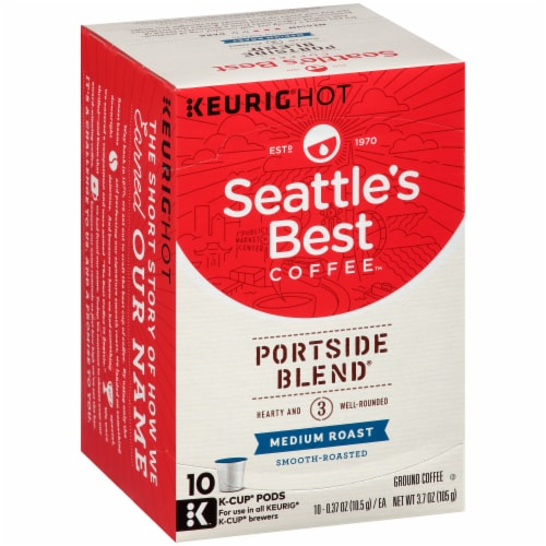 Seattle's Best Portside Blend Medium Roast Coffee K-Cup Pods Perspective: left