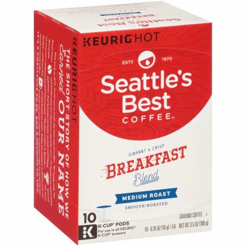 Seattle's Best Coffee Breakfast Blend Medium Roast Coffee K-Cup Pods Perspective: left