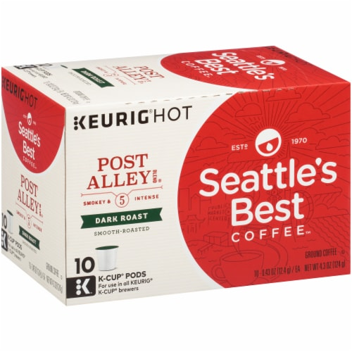 Seattle's Best Coffee Post Alley K-Cup Pods Perspective: left