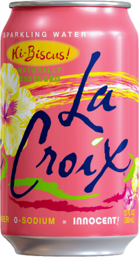 LaCroix Hibiscus Sparkling Water Perspective: left
