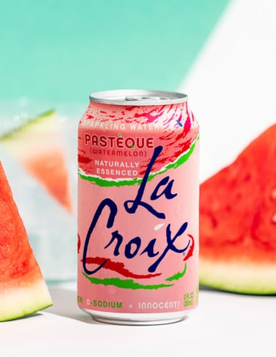 LaCroix Watermelon Sparkling Water Perspective: left