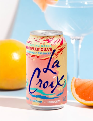LaCroix Pamplemousse Grapefruit Sparkling Water Perspective: left