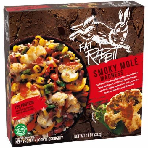 Fat Rabbit Smoky Mole Madness Frozen Meal Perspective: left