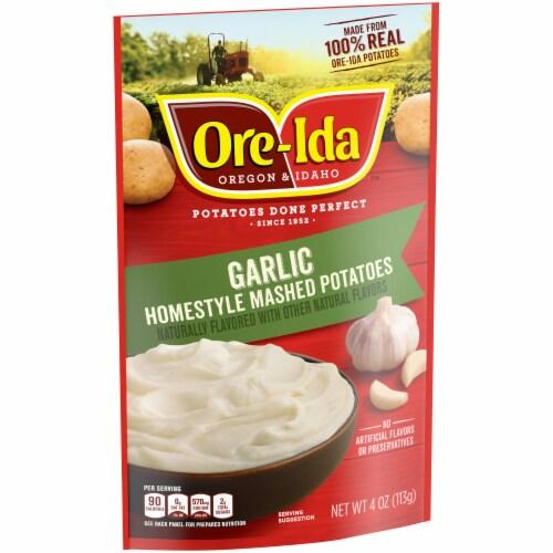 Ore-Ida Garlic Homestyle Mashed Potatoes Perspective: left