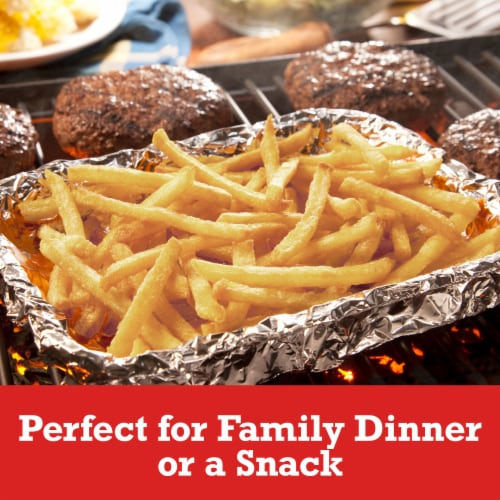 Ore-Ida Extra Crispy Fast Food Fries French Fried Potatoes Perspective: left