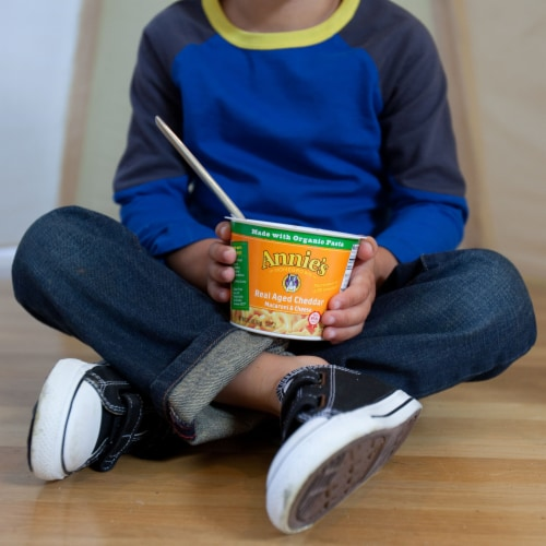 Annie's Real Aged Cheddar Macaroni & Cheese Perspective: left