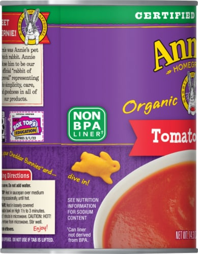 Annie's Organic Tomato Soup Perspective: left