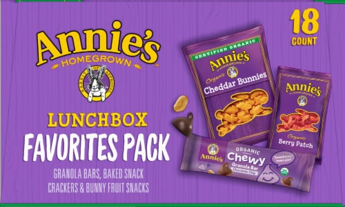 Annie's Organic Lunchbox Favorites Snack Variety Pack Perspective: left