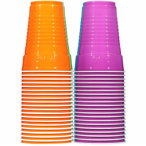 Hefty® Party On™ 16-Ounce Plastic Cups Perspective: left