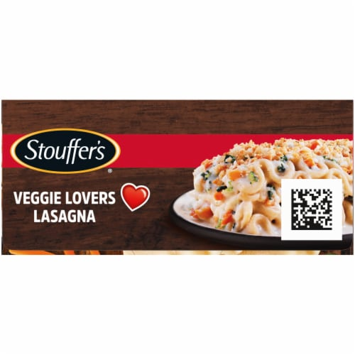 Stouffer's Veggie Lover's Lasagna Frozen Meal Perspective: left