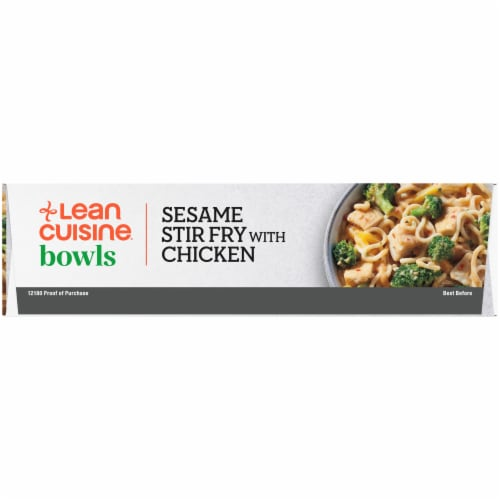 Lean Cuisine Bowls Sesame Stir Fry with Chicken Frozen Meal Perspective: left