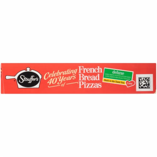 Stouffer's Deluxe French Bread Frozen Pizza Perspective: left