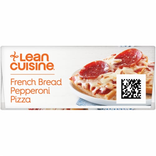 Lean Cuisine Favorites French Bread Pepperoni Frozen Pizza Perspective: left