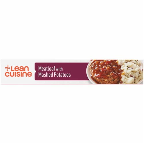 Lean Cuisine Features Meatloaf with Mashed Potatoes Frozen Meal Perspective: left