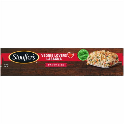 Stouffer's Veggie Lover's Lasagna Party Size Frozen Meal Perspective: left