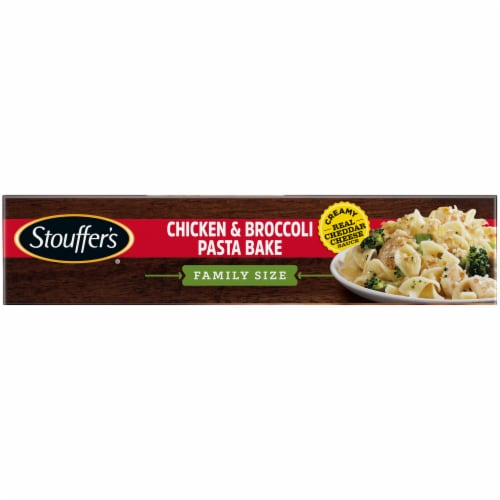 Stouffer's Family Size Chicken & Broccoli Pasta Bake Frozen Meal Perspective: left