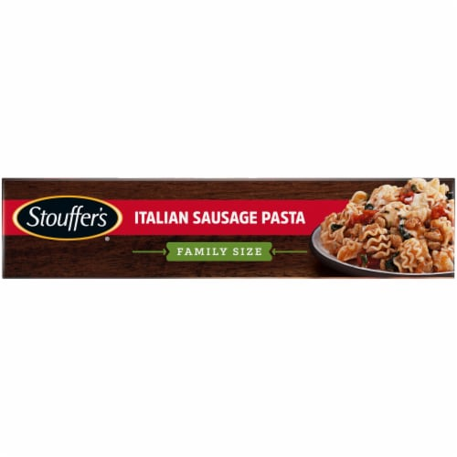 Stouffer's Family Size Italian Sausage Pasta Frozen Meal Perspective: left