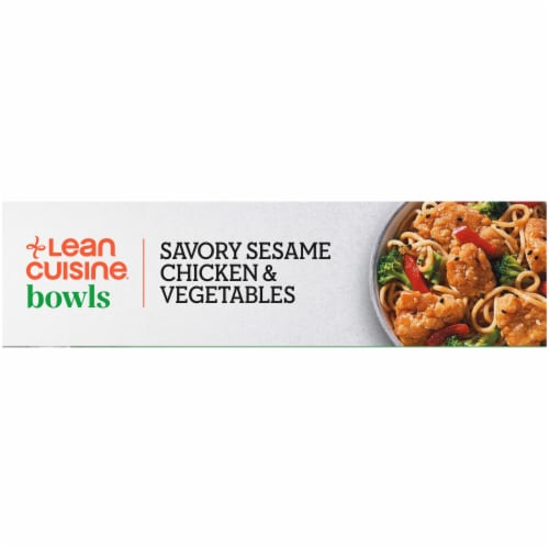 Lean Cuisine Savory Sesame Chicken & Vegetables Bowl Frozen Meal Perspective: left