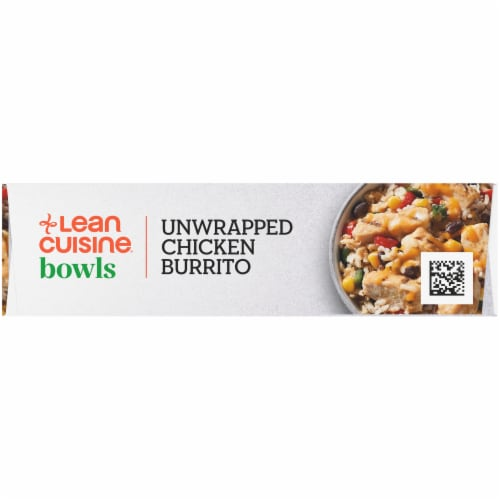 Lean Cuisine High Protein Unwrapped Chicken Burrito Bowl Frozen Meal Perspective: left