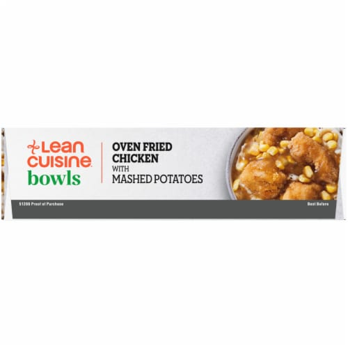 Lean Cuisine Oven Fried Chicken and Mashed Potatoes Frozen Entrée Perspective: left