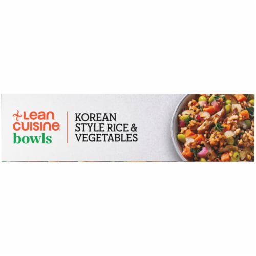 Lean Cuisine Korean Style Rice & Vegetables Bowls Frozen Meal Perspective: left