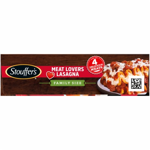 Stouffer's Classics Meat Lovers Lasagna Family Size Frozen Meal Perspective: left