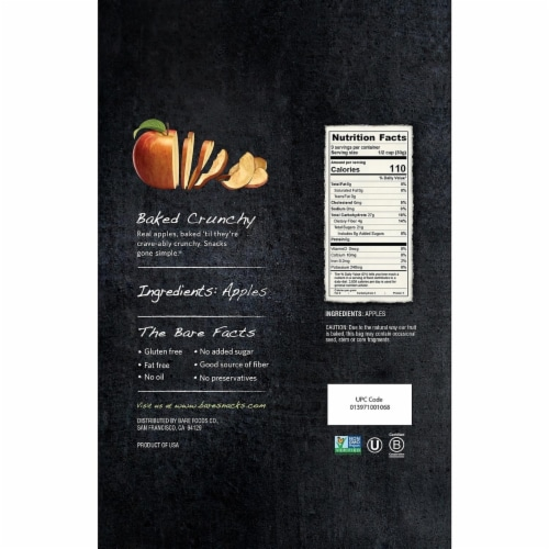 Bare Baked Crunchy Fuji & Reds Apple Chips (10 Ounce) Perspective: left