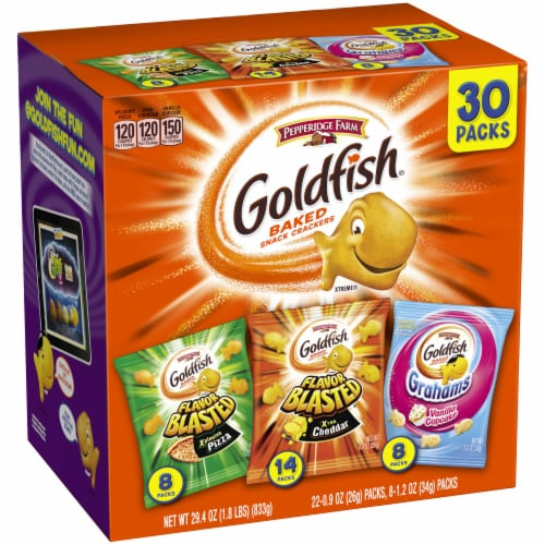 Goldfish Blasted Variety Pack Perspective: left