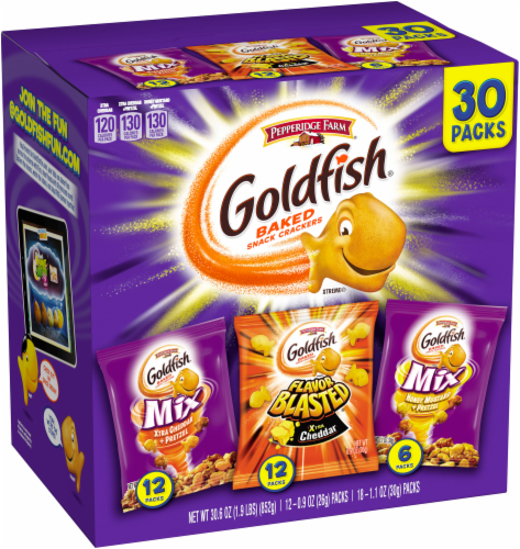 Goldfish Mix & Blasted Crackers Variety Pack Perspective: left