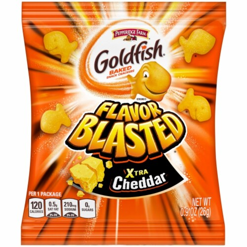 Pepperidge Farm Goldfish Variety Pack (0.9 Ounce, 45 Count) Perspective: left