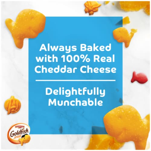 Goldfish Special Edition Marvel Avengers Cheddar Baked Snack Crackers Perspective: left