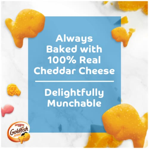 Goldfish Special Edition Disney Princess Cheddar Baked Snack Crackers Perspective: left