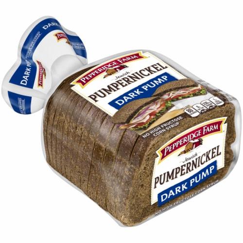 Pepperidge Farm Dark Pumpernickel Bread Perspective: left
