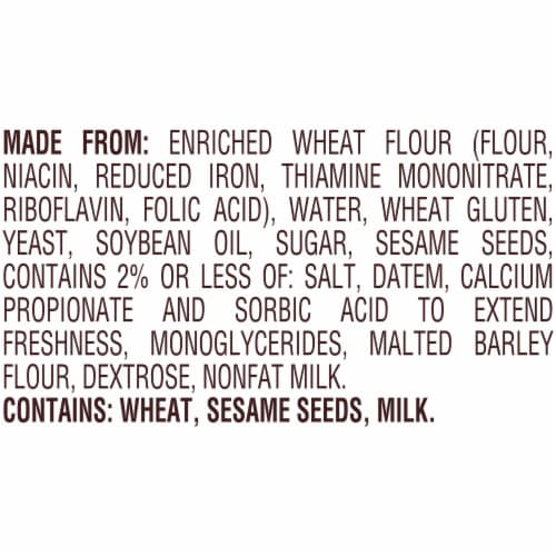 Pepperidge Farm Bakery Classics Soft White Hoagie Rolls with Sesame Seeds Perspective: left