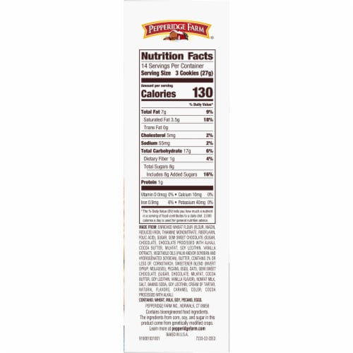 Pepperidge Farm Classic Collection Cookies Perspective: left