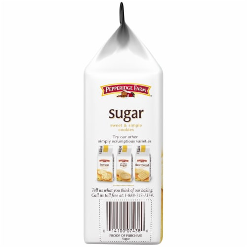 Pepperidge Farm Sweet & Simple Sugar Cookies Perspective: left