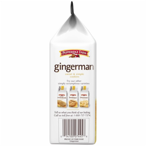 Pepperidge Farm Gingerman Sweet & Simple Cookies Perspective: left